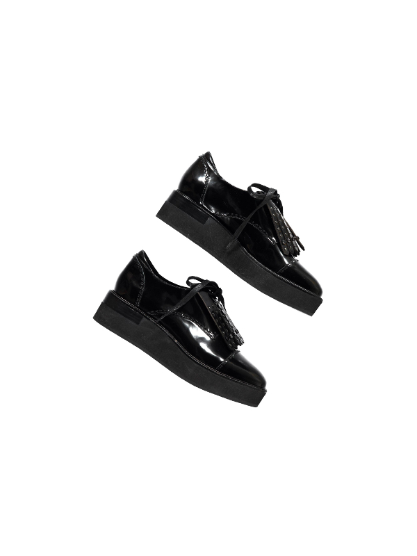 ORESTE BL25 Chaussures richelieu compensées (Noir)