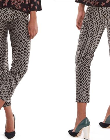Essentiel Antwerp - MONTREAL C1BL - Pantalon en jacquard aux jambes effilées (Noir/argent)