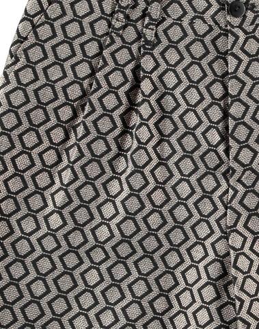 MEGA C1BL - Short chic en jacquard au reflet argenté (Noir)