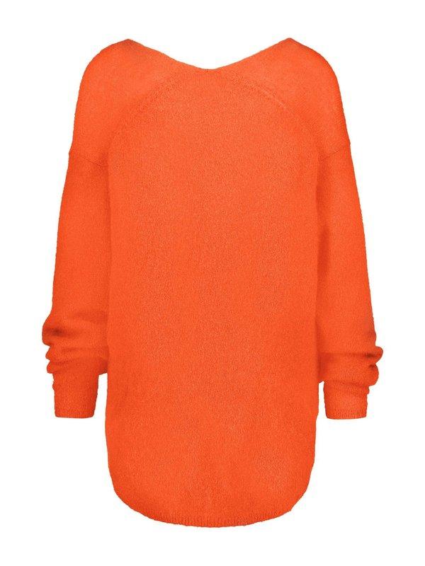 W17B006 PA   - Pullover papaya