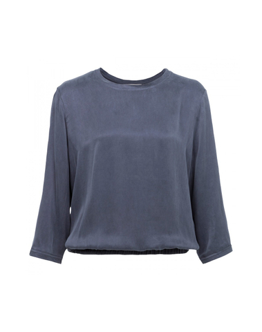 012497 725 - BLOUSON TOP WITH CUPRO AND JERSEY