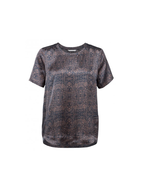 012519 725 - PAISLEY PRINTED ROUND NECK TOP