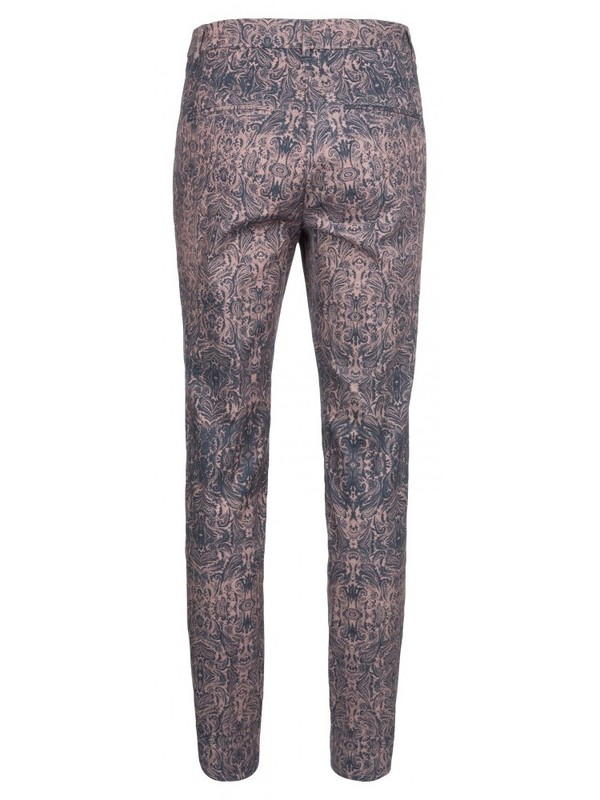 021863 725K - COTTON PAISLEY PANTS (Dark plum)