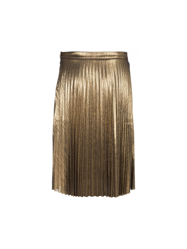 044285 724 - METALLIC PLISSE SKIRT (Gold)