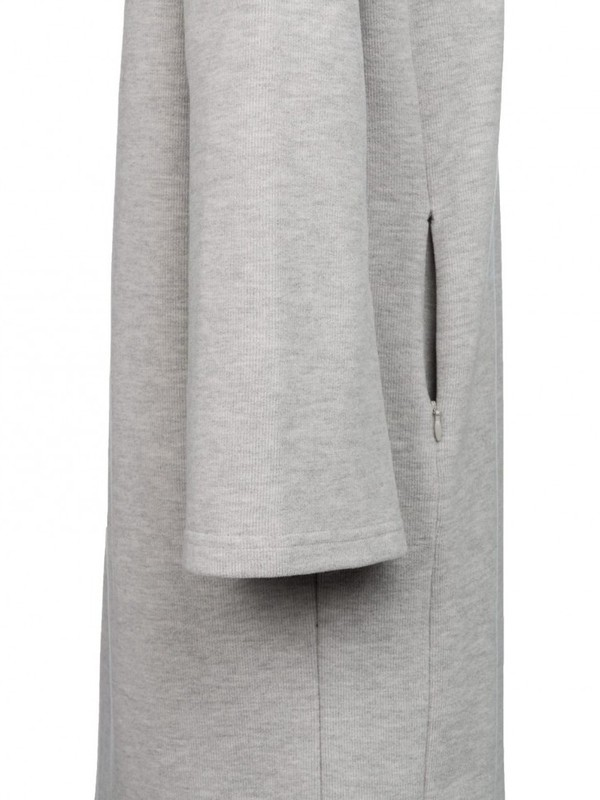 081639 723K - BRUSHED HOODED DRESS (Medium Grey mel)