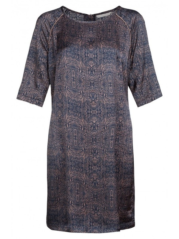 081675 725 - PAISLEY NTEPRID DRESS (Dark blue)