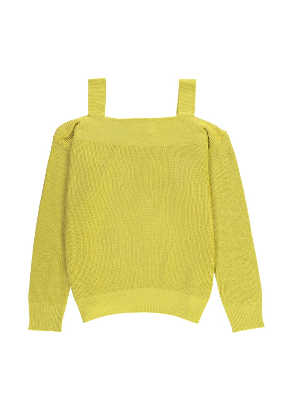 POUSSIN CI16 - Pull Jaune citron