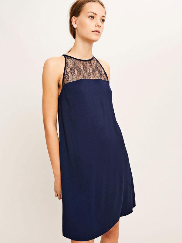 F18102026  10252 - Bina s dress 6460  (DARK SAPPHIRE)