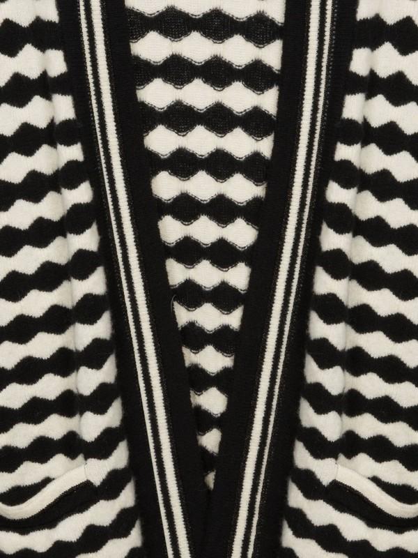 ROMEO R1BL  - Cardigan (Blanc/noir)