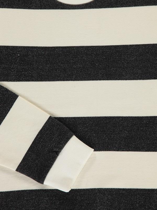 M-KETONE C1 - Sweat à rayures (White/Black)