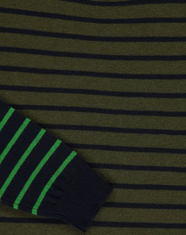 M-KODA CI5 -  Pull à rayures (Bleu/vert)