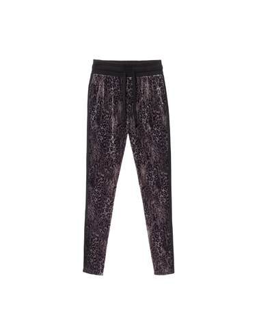 20-057-8103 - BANANA PANTS LEOPARD  (Black)