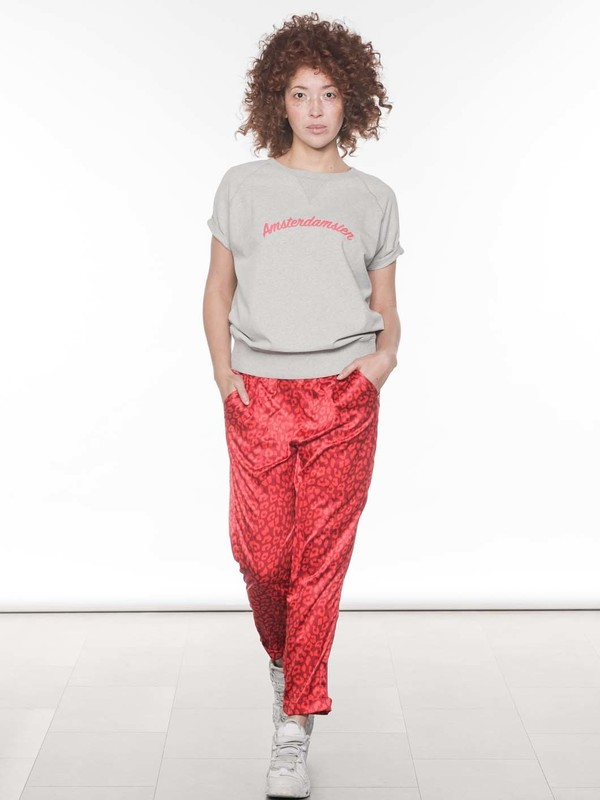 20-063-8103 - EASY PANTS LEOPARD  (Dark red)