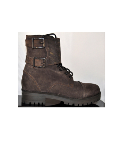E(x)it - BOSDELE 06 - Bottines cuir daim (Anthracite)