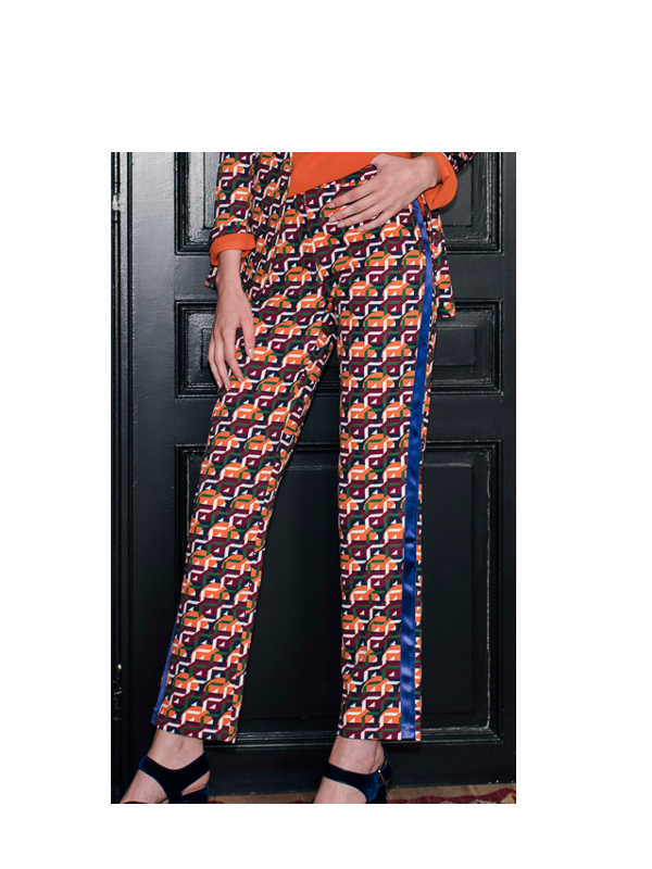 H1808P340 - Pantalon retro (Orange)