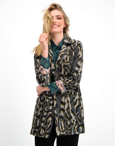 SP5753 - Jacket Big Leopard Grey