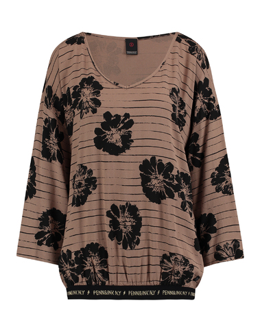 W18F304 031/90 - Blouse AOP (Wood/black)