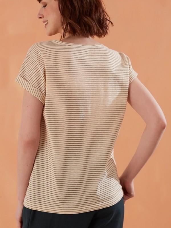 1E190225  02032 -  Tee shirt ZIZA (vanille)