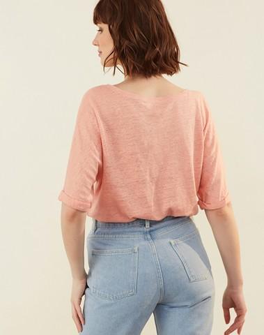 1E190258  02102 - Tee shirt JANJA (pamplemousse)