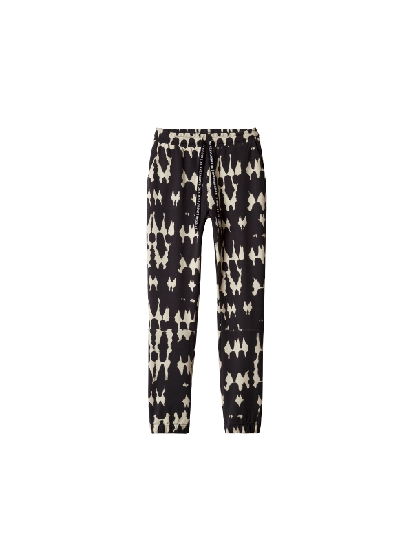 20-007-9101 1011 - CROPPED JOGGER TIE DYE (Charcoal)
