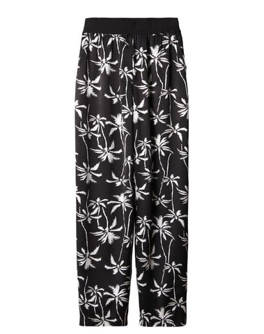 20-013-9101 1012 - WIDE LEG PANTS PALM (Noir)