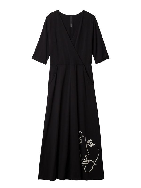 20-306-9101  1012 - WRAP DRESS  (black)