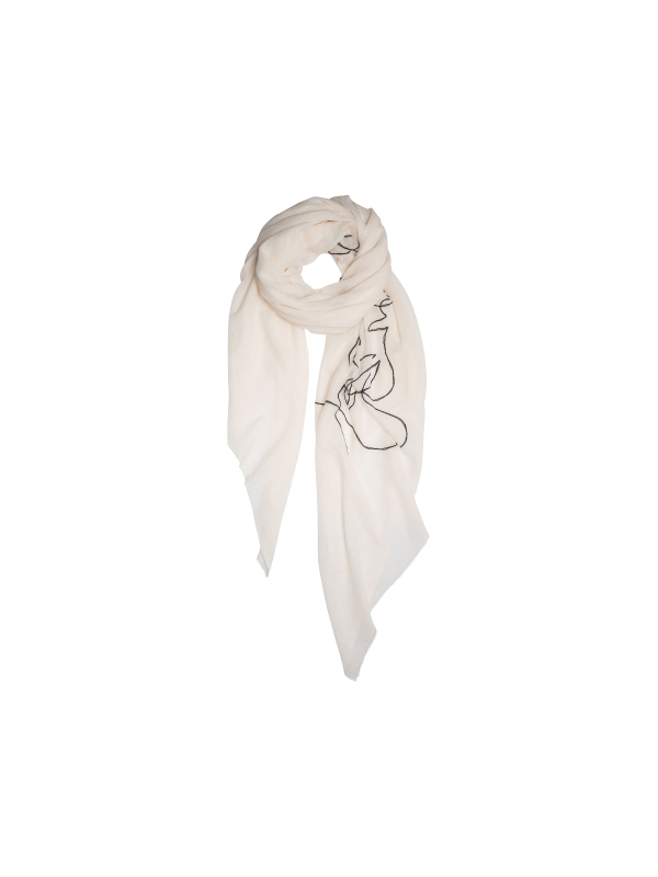20-913-9101  1004 - SCARF FACE   (white wool)