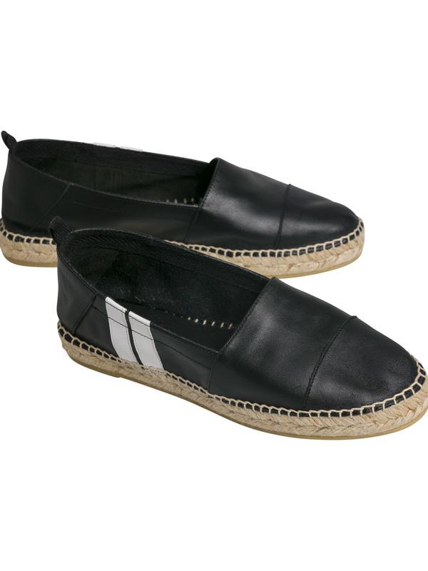 20-938-9101  1012 - ESPADRILLES STRIPE  (black)