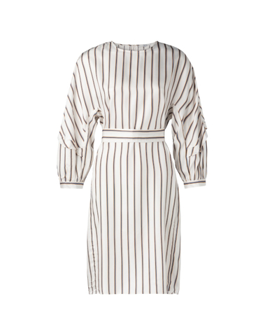 180187-911 - Dress  stripe (Off white dessin)