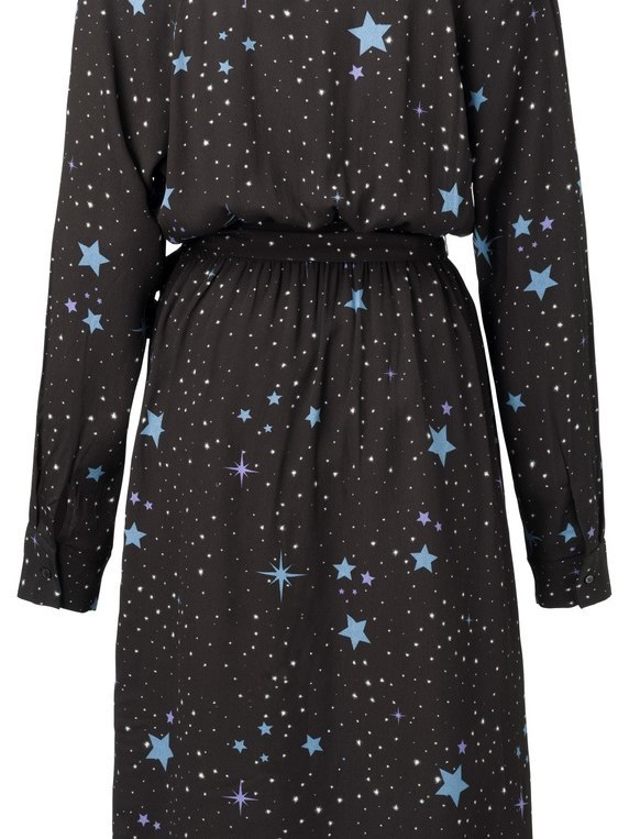 180190-911 - Dress star print (Black dessin)