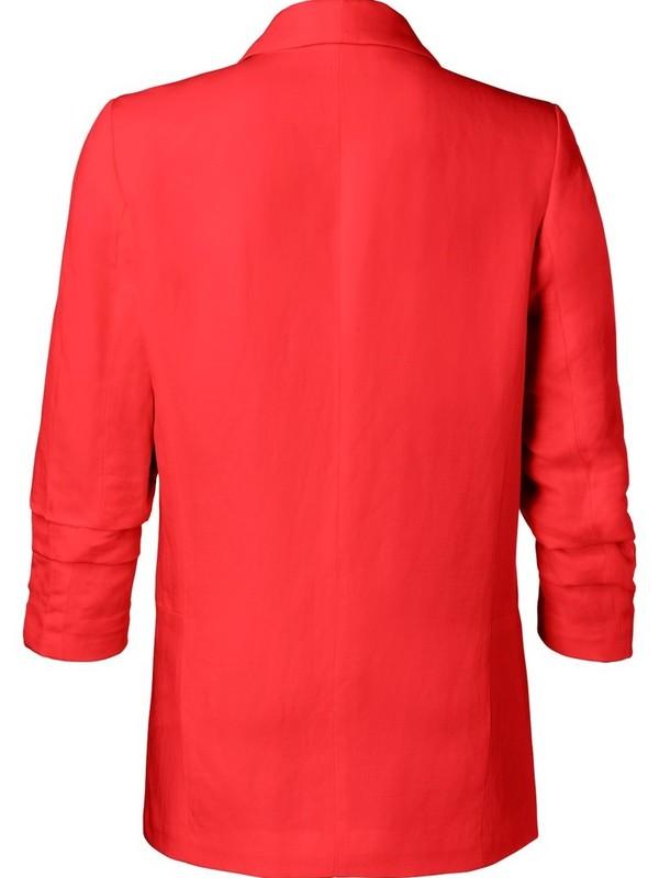 150125-913 - Blazer linen  (Firy red)