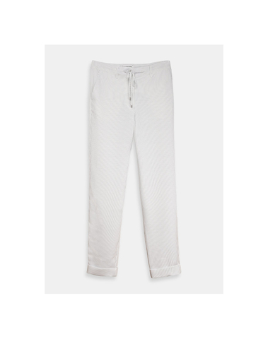 TOBAGO T1OW - PINSTRPE TRACK PANTS  (OFF WHITE)