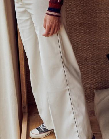 H19080557E - Pantalon (Ecru)