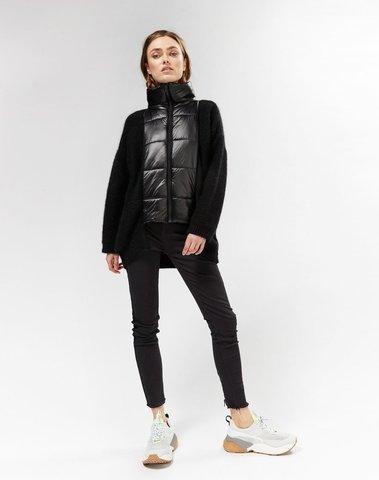 20-654-9103 1012 - puffer cardigan (black)