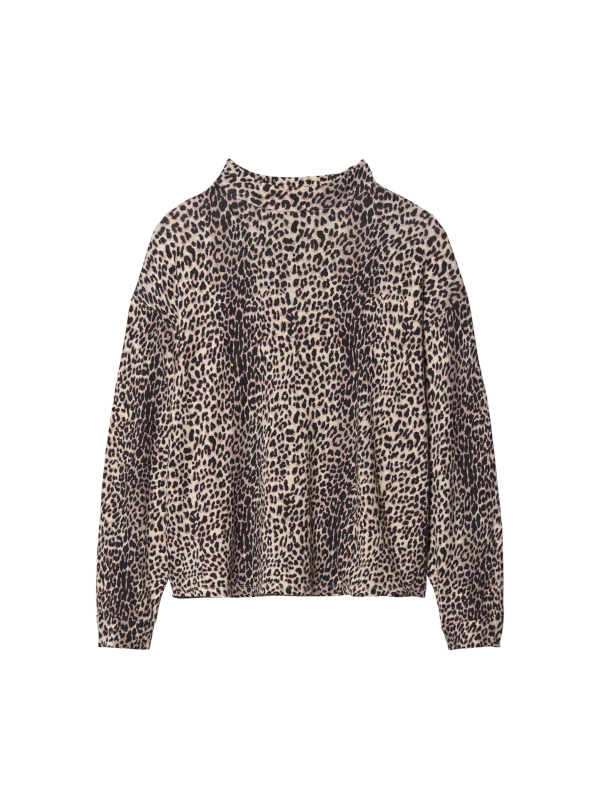 20-786-9103 1043 - turtle neck tee leopard (winter white)