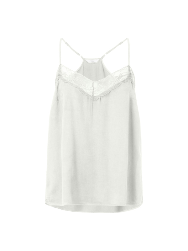 1901115-921 30002 - Camisole singlet with lace  (White sand)