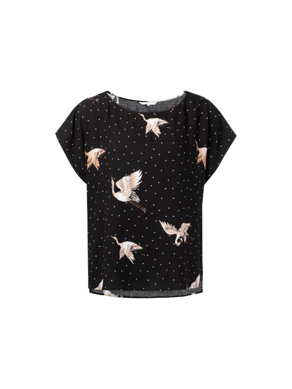 1901202-921 000011  - Tshirt with japenese print (black )