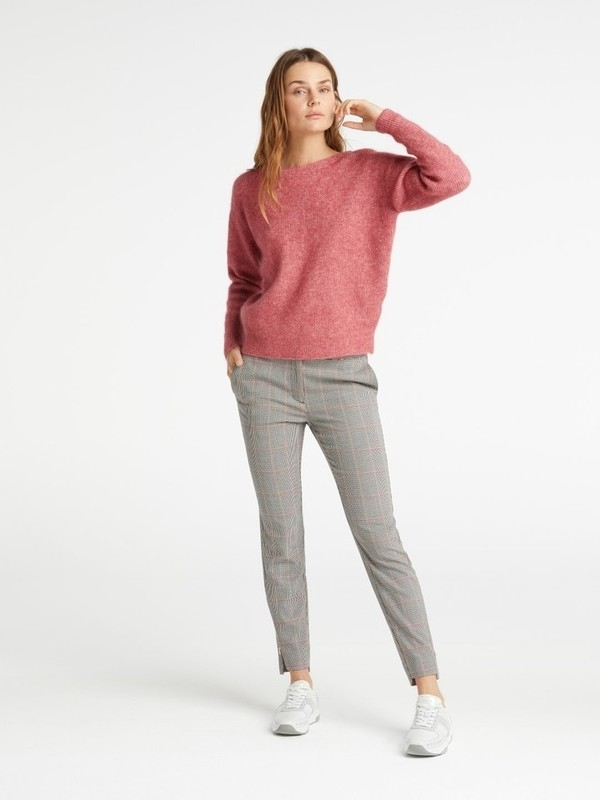 100061-923 816312 - Ribbed sweater (Pink rouge mel.)