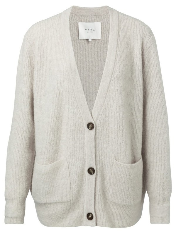 101044-923 300022 - Knitted cardigan (White sand mel.)