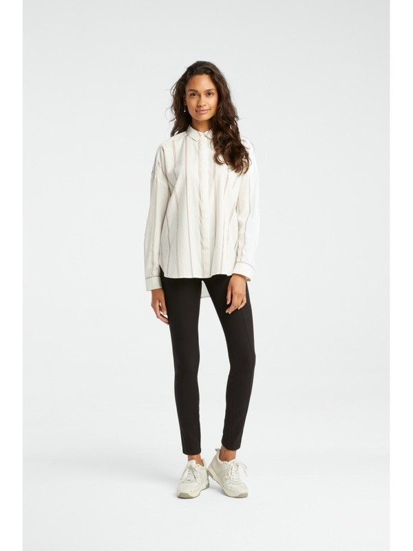 110188-923 106021 - Jacquard shirt with stripes (Off white dessin)