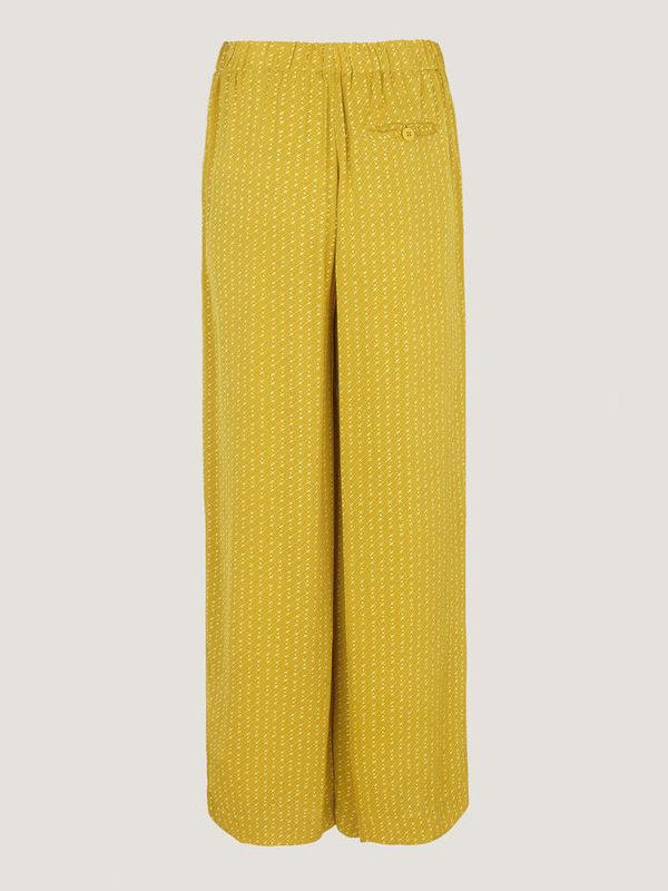 F19104116 00181 -  Pants IMOGEN aop (Olive starry)