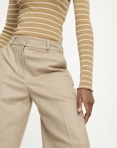 F19404210 00007 - Wanda trousers 11181  (Khaki)