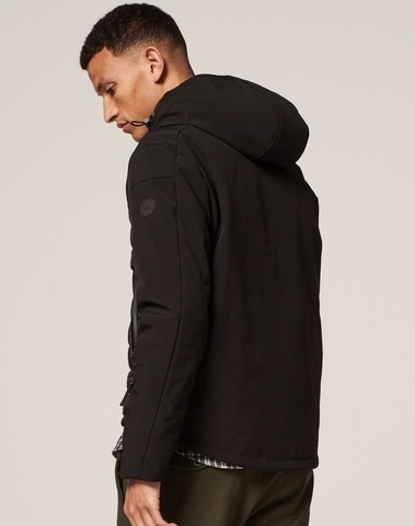 101244 999 - Jacket soft shell double hoody (Black)