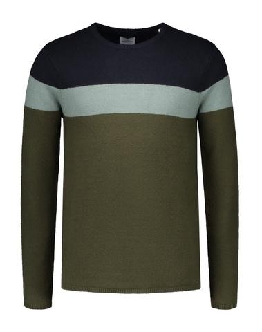 404230 524 - Knit color block  (Dark Army)