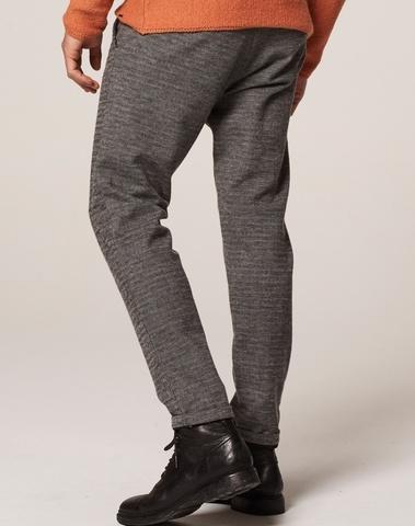 501294 898 - Pants herringbone sweat regular slim fit  (Dk. Grey Mel.)