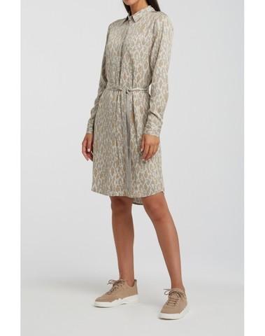 1801201-012 400021 - Midi dress print (Light sand dessin)