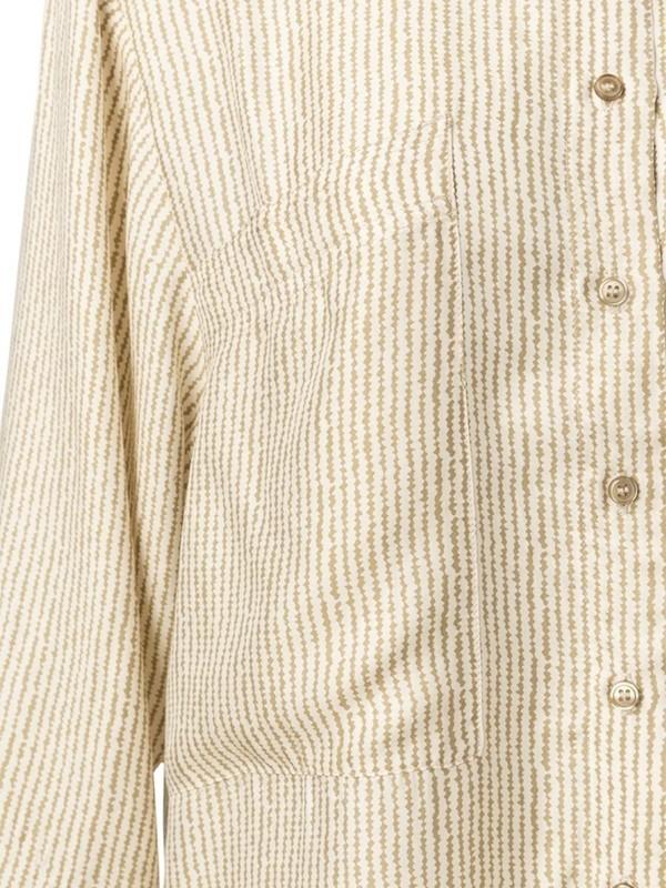 1101151-013 61101 - Silk shirt  (Greyish green dessin)