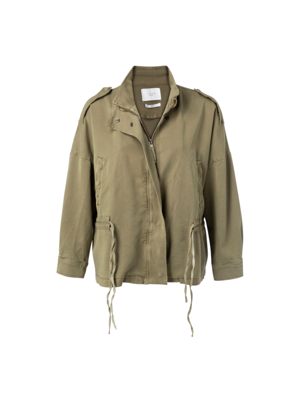 151123-013 61110 - Jacket with drawstring  (Greyish green)