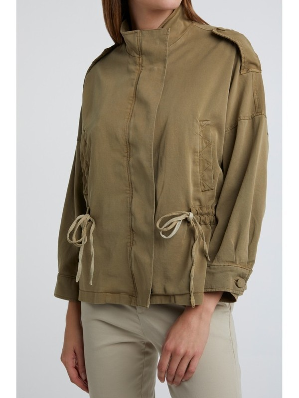 151123-013 61110 - Jacket with drawstring  (Greyish green)