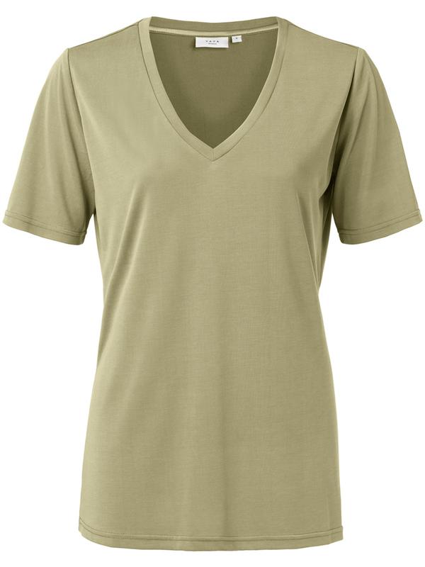 1919121-013 61110 - Modal V-neck T-shirt (Greyish green)